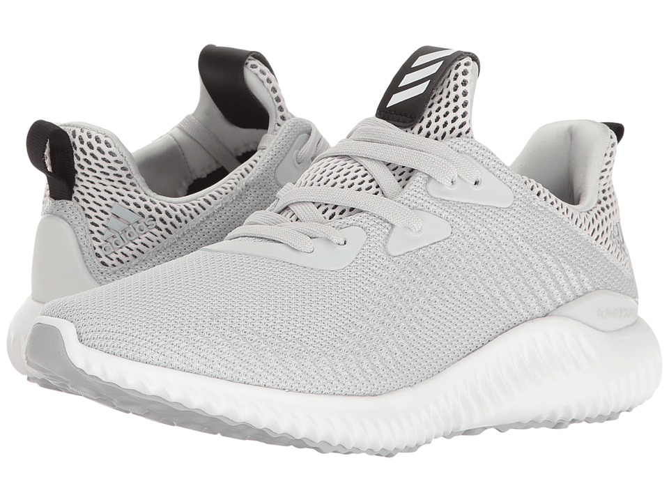 adidas Kids Alphabounce (Big Kid) (Clear Grey/Footwear White/Clear Onix) Boys Shoes