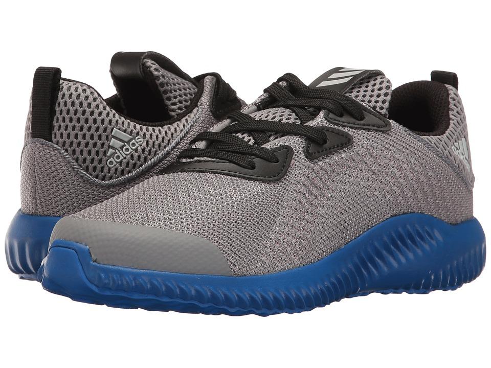adidas Kids Alpha Bounce (Little Kid) (Trace Grey/Energy/Clear Aqua) Boys Shoes