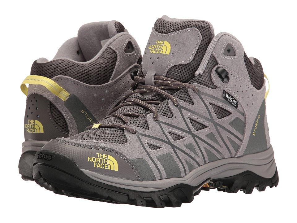 The North Face Storm III Mid WP (Dark Gull Grey/Chiffon Yellow) Women's Hiking Boots