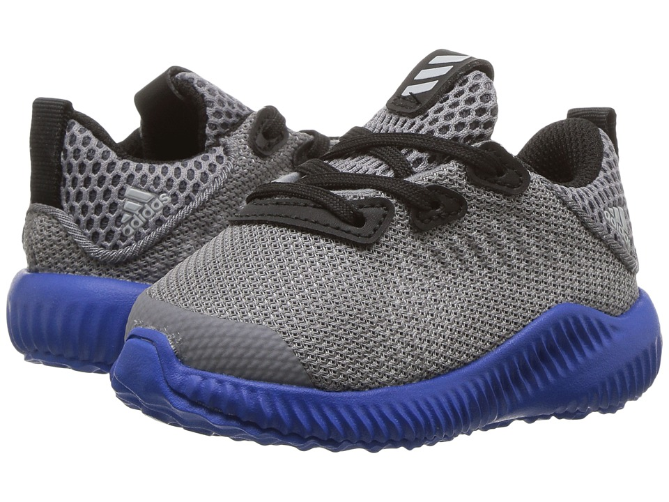 adidas Kids Alpha Bounce (Toddler) (Trace Grey/Energy/Clear Aqua) Boys Shoes