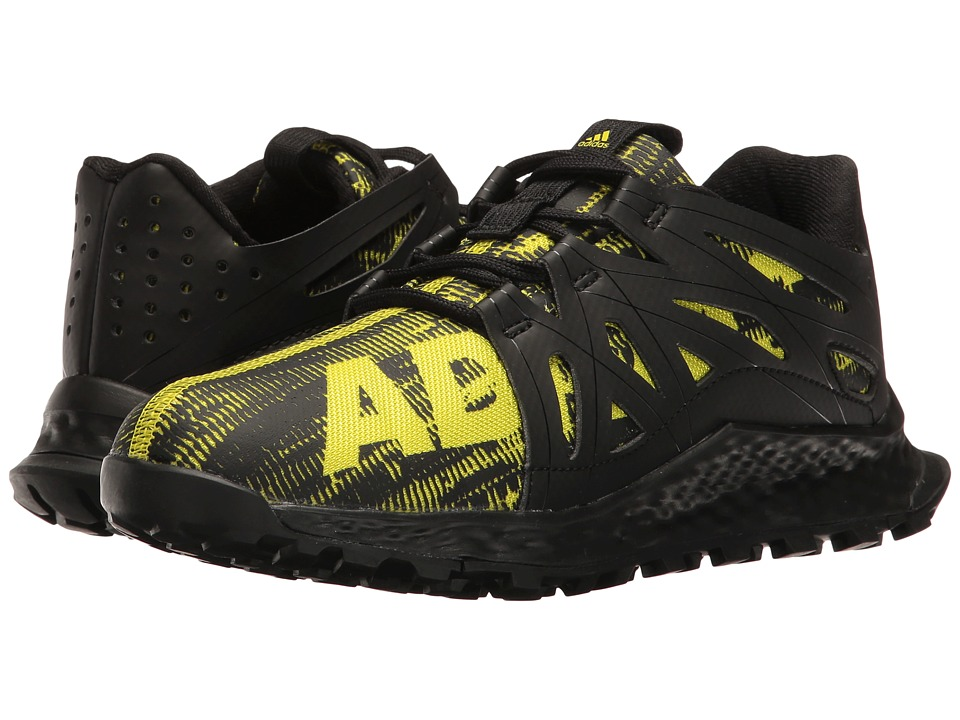 adidas Kids Vigor Bounce (Little Kid) (Core Black/Onix/Solar Yellow) Boys Shoes
