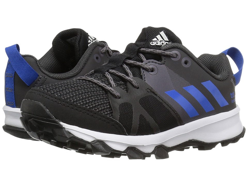 adidas Kids Kanadia 8 (Little Kid/Big Kid) (Black/Blue/Trace Grey) Boys Shoes