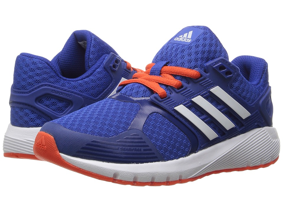 adidas Kids Duramo 8 (Little Kid/Big Kid) (Blue/White/Energy) Boys Shoes