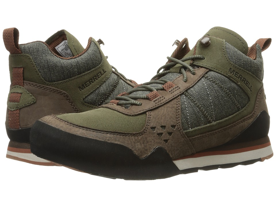 Merrell Burnt Rock Mid (Dusty Olive) Men