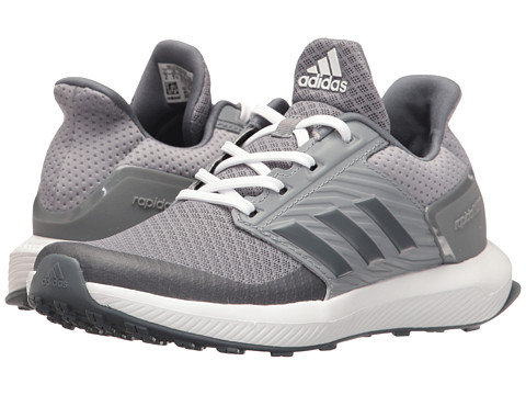 adidas Kids RapidaRun (Little Kid/Big Kid) - Grey/Onix/Footwear White