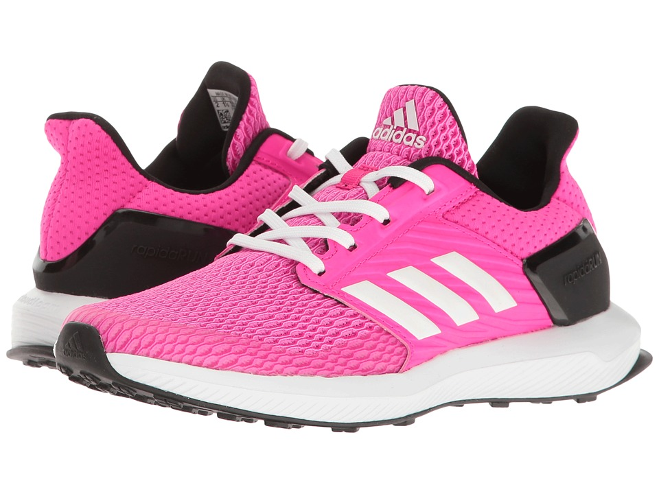adidas Kids RapidaRun (Little Kid/Big Kid) (Shock Pink/Footwear White/Bold Pink) Girls Shoes