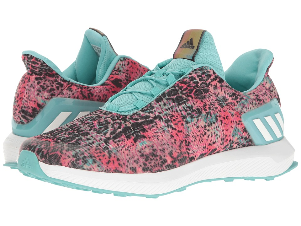 adidas Kids RapidaRun Uncaged (Little Kid/Big Kid) (Easy Coral/White/Easy Mint) Girls Shoes
