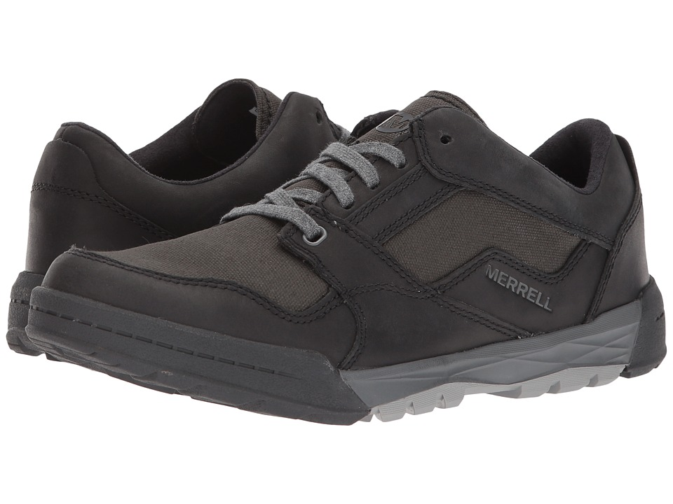 Merrell - Berner Shift Lace (Black) Mens Lace up casual Shoes