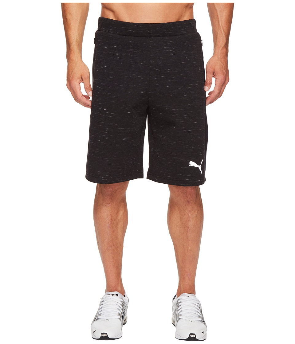 PUMA Evostripe Spaceknit Shorts (Cotton Black Heather) Men