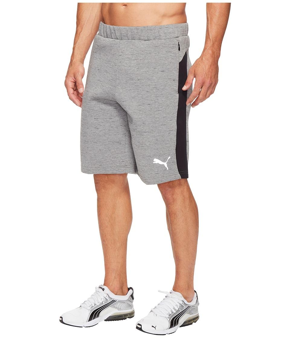 PUMA Evostripe Spaceknit Shorts (Medium Gray Heather) Men