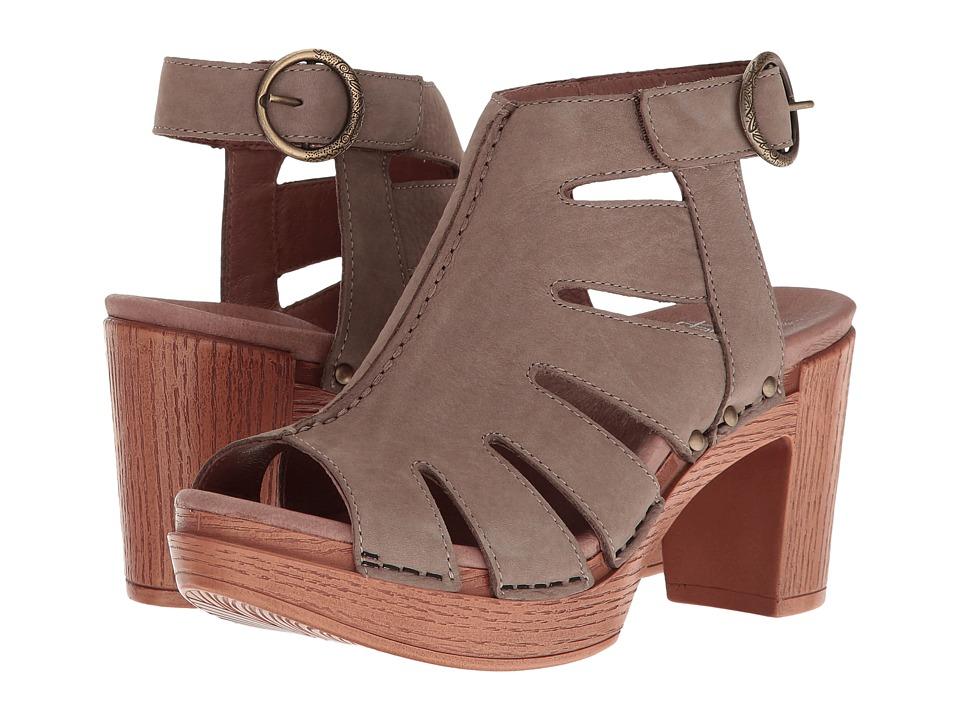 Dansko Demetra (Taupe Milled Nubuck) Women's  Shoes