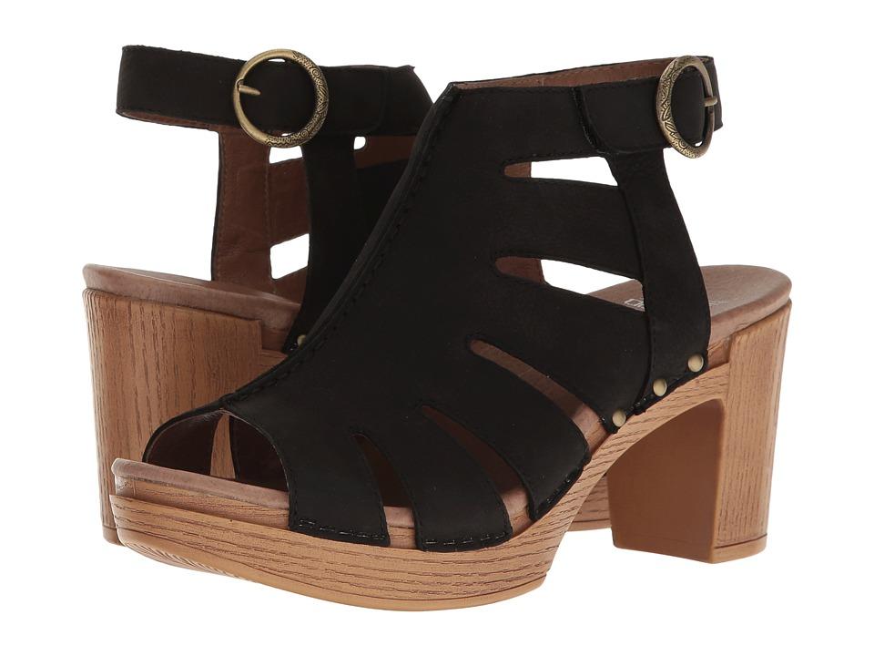 Dansko Demetra (Black Milled Nubuck) Women's  Shoes