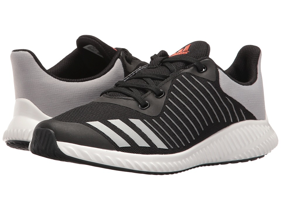 adidas Kids FortaRun Wide (Little Kid/Big Kid) (Black/Energy/Silver) Boys Shoes