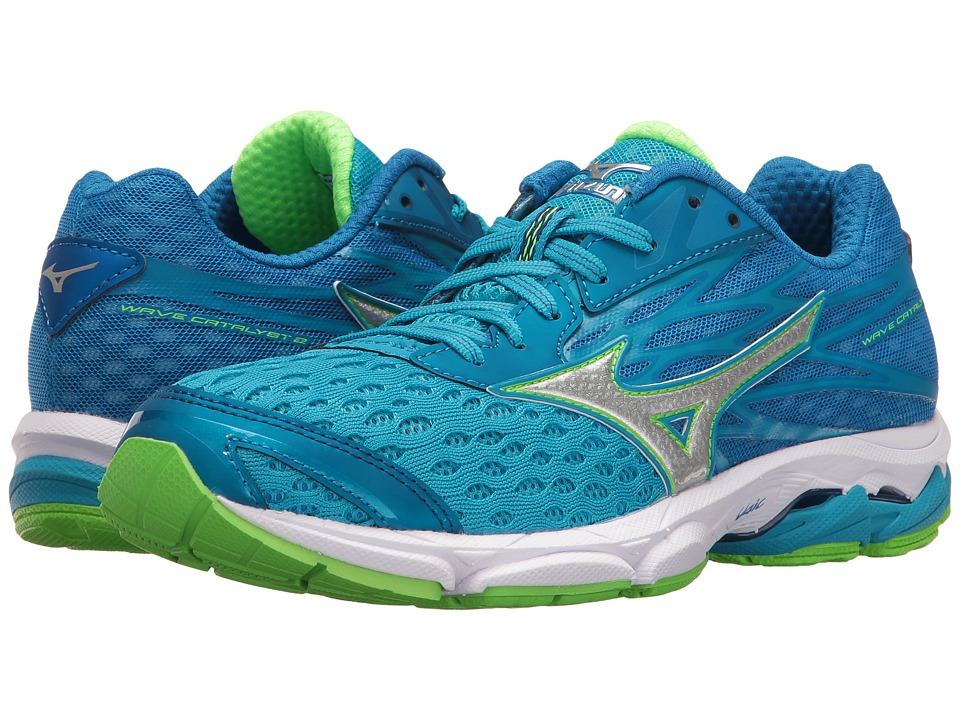 Mizuno - Wave Catalyst 2 (Atomic Blue/Green Gecko/White) Womens Running Shoes