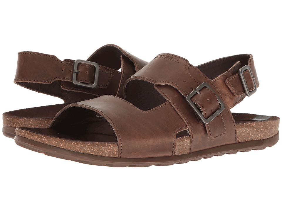 Merrell - Downtown Backstrap Buckle (Dark Earth) Mens Sandals