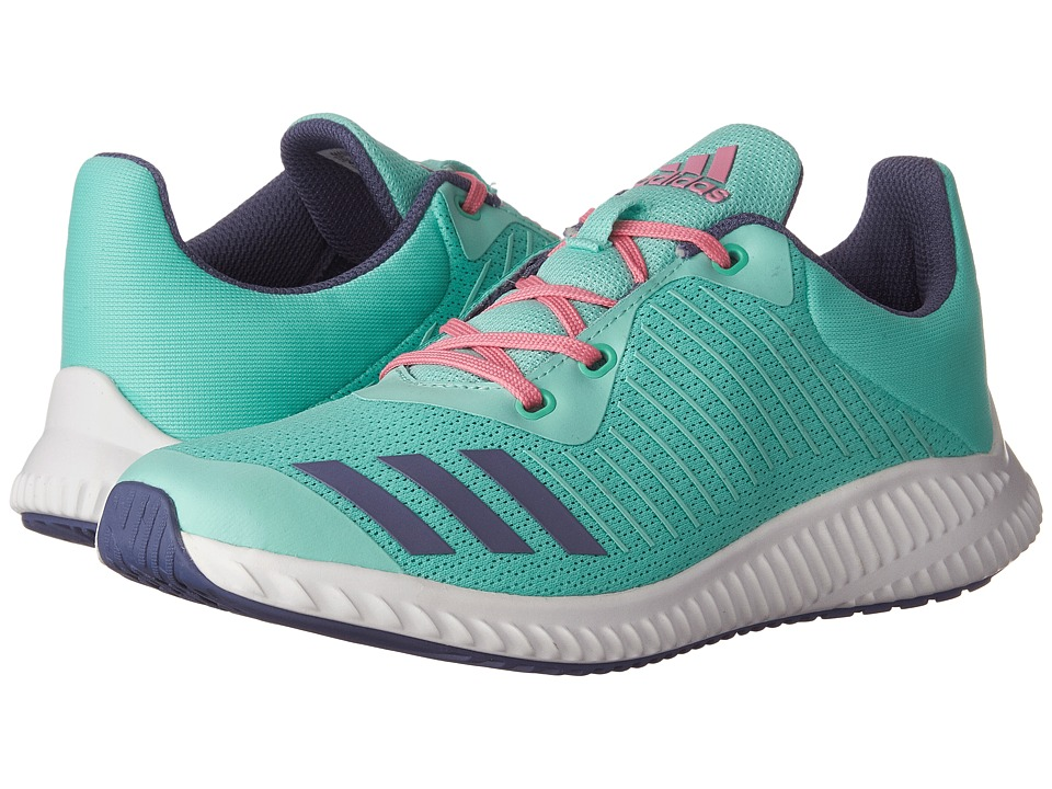 adidas Kids FortaRun (Little Kid/Big Kid) (Easy Green/Super Purple/White) Girls Shoes