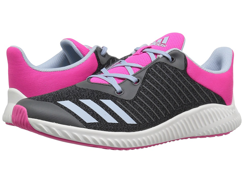 adidas Kids FortaRun (Little Kid/Big Kid) (Dark Grey/Easy Blue/Shock Pink) Girls Shoes