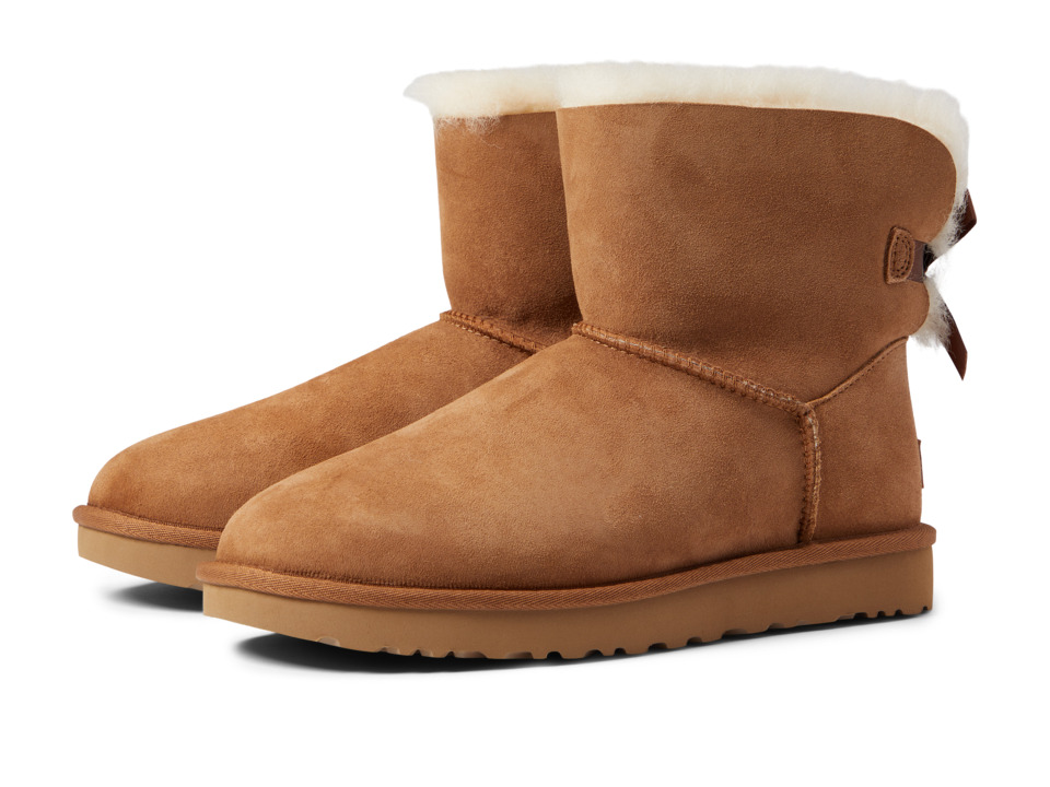 Ugg Mini Bailey Bow II (Chestnut) Women's Boots