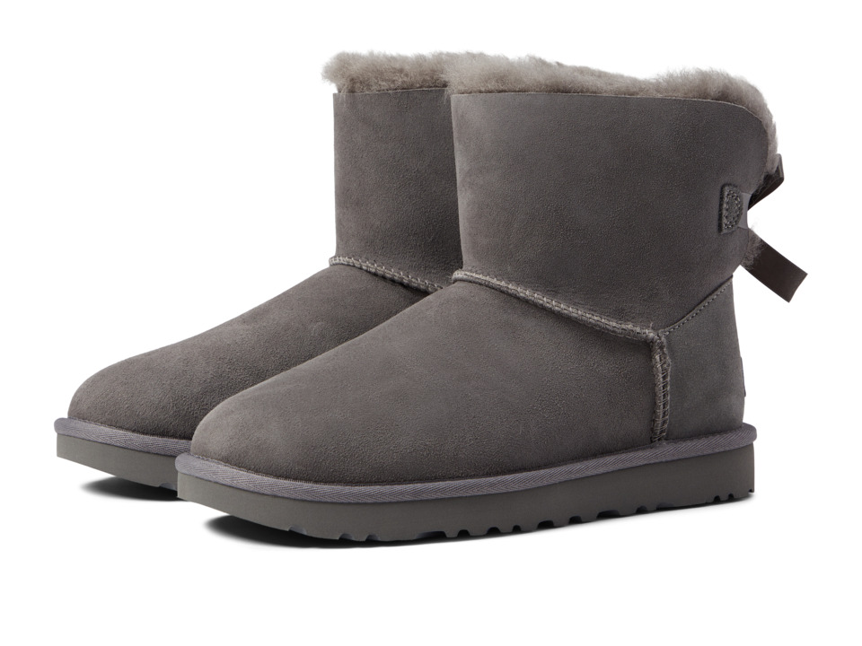 Ugg Mini Bailey Bow II (Grey) Women's Boots