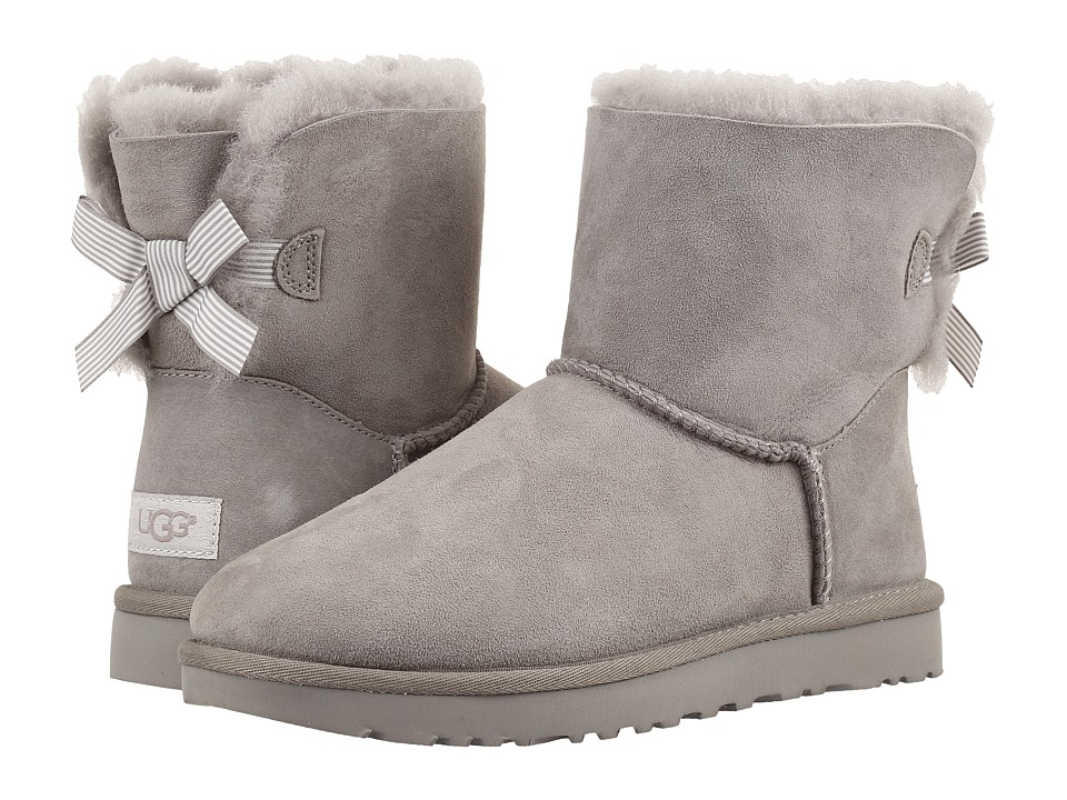 UGG Mini Bailey Bow II Stripe (Seal) Women