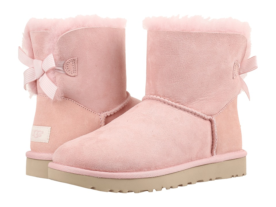 UGG Mini Bailey Bow II Stripe (Petal) Women
