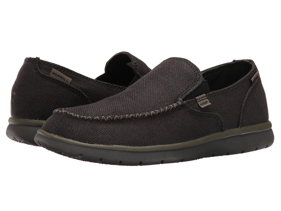 Merrell Laze Hemp Moc (Black) Men's Slip on  Shoes