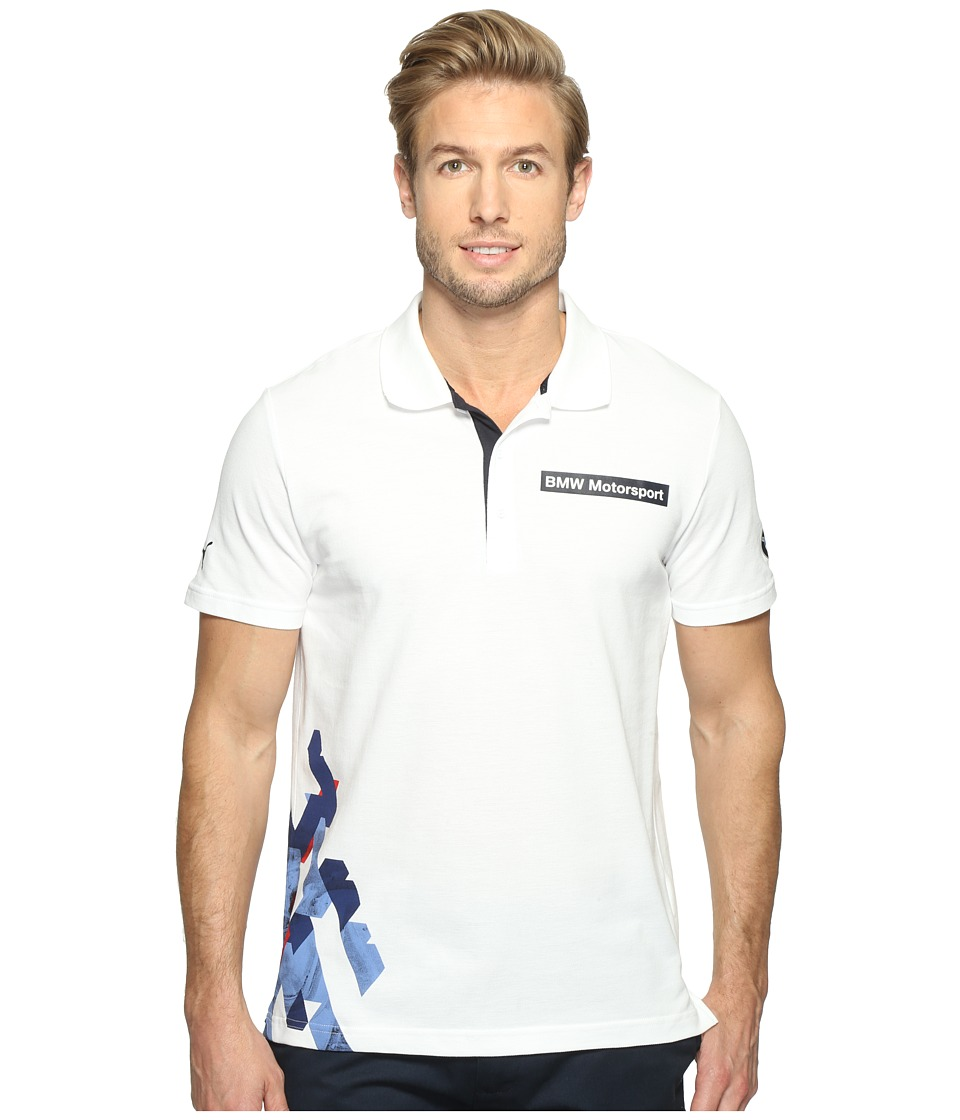 PUMA BMW MSP Graphic Polo (PUMA White) Men
