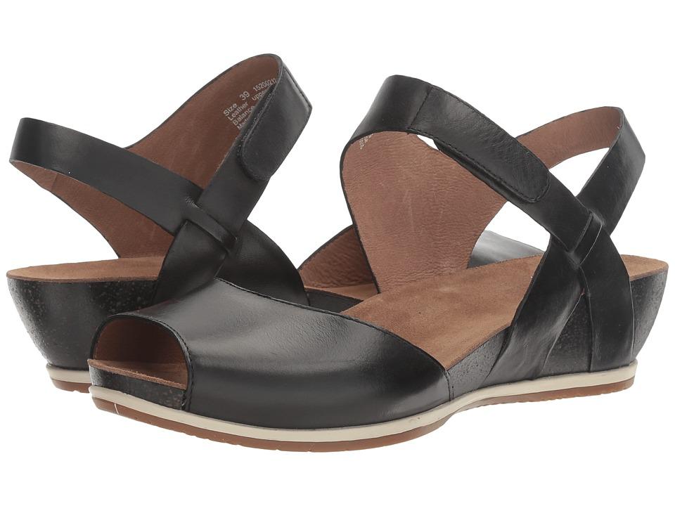 Dansko Vera (Black Burnished) Women's Shoes
