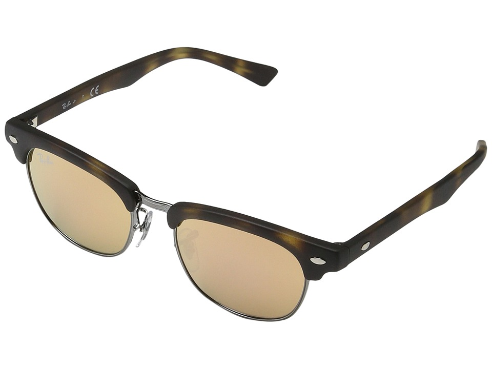 Ray-Ban Junior - RJ9050S Clubmaster 45mm (Youth) (Matte Havana) Fashion Sunglasses