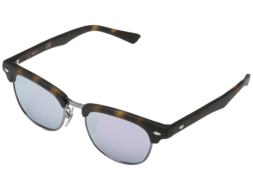 Ray-Ban Junior RJ9050S Clubmaster 45mm (Youth) (Matte Havana 1) Fashion Sunglasses