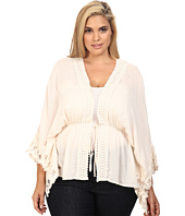 Christin Michaels - Plus Size Adia Crochet Detail Top