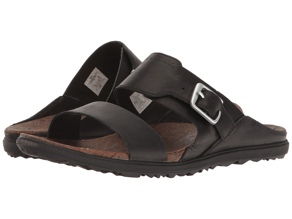 Merrell - Around Town Buckle Slide (Black) Womens Sandals