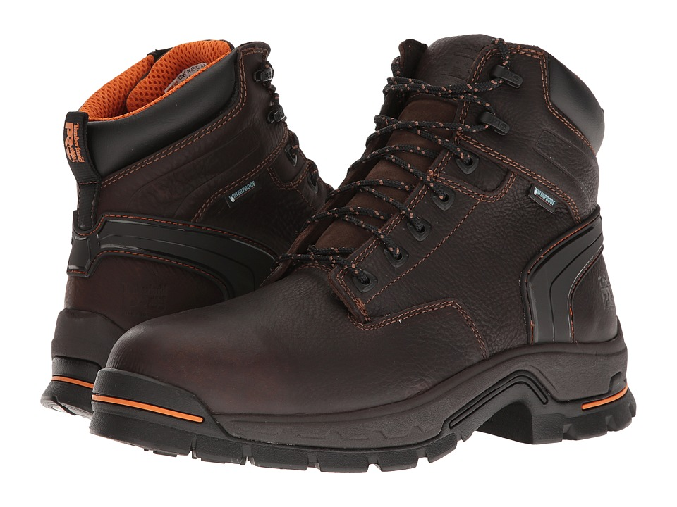 Timberland PRO Stockdale 6 Alloy Safety Toe Waterproof Boot (Brown Full-Grain Leather) Men