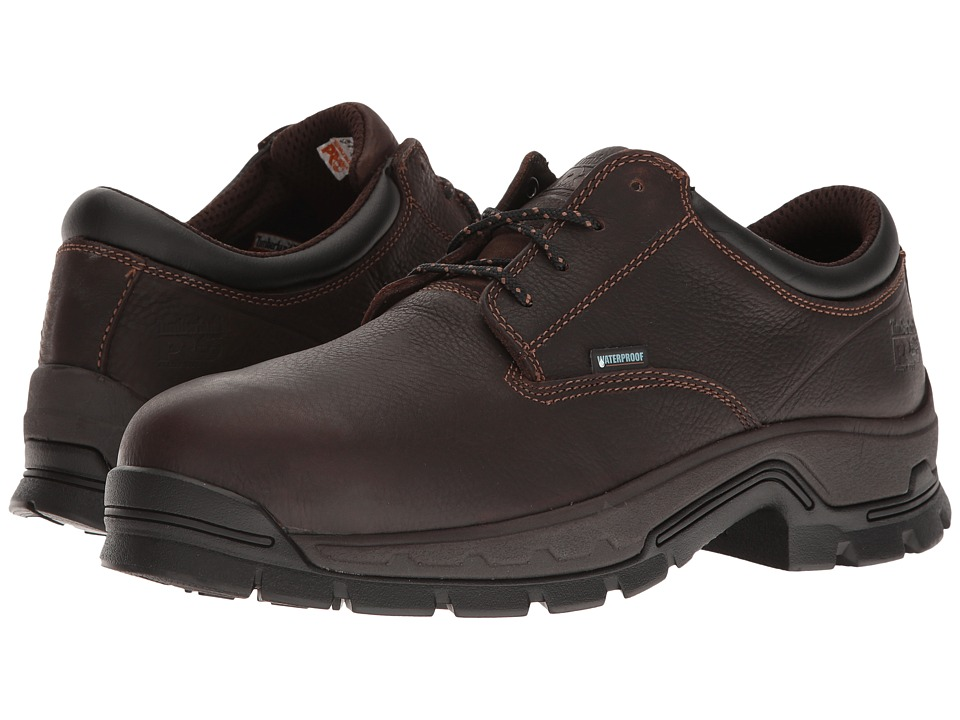 Timberland PRO - Stockdale Alloy Safety Toe Waterproof Boot (Brown Full-Grain Leather) Mens Work Boots
