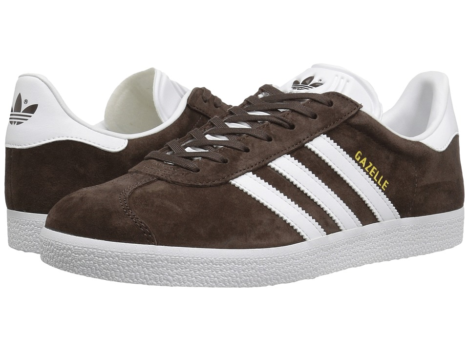 Adidas Originals - Gazelle (Brown/Footwear White/Gold Met...