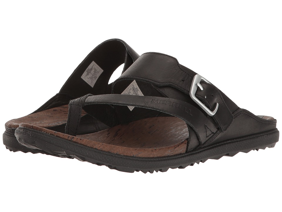 Merrell - Around Town Thong Buckle (Black) Womens Sandals