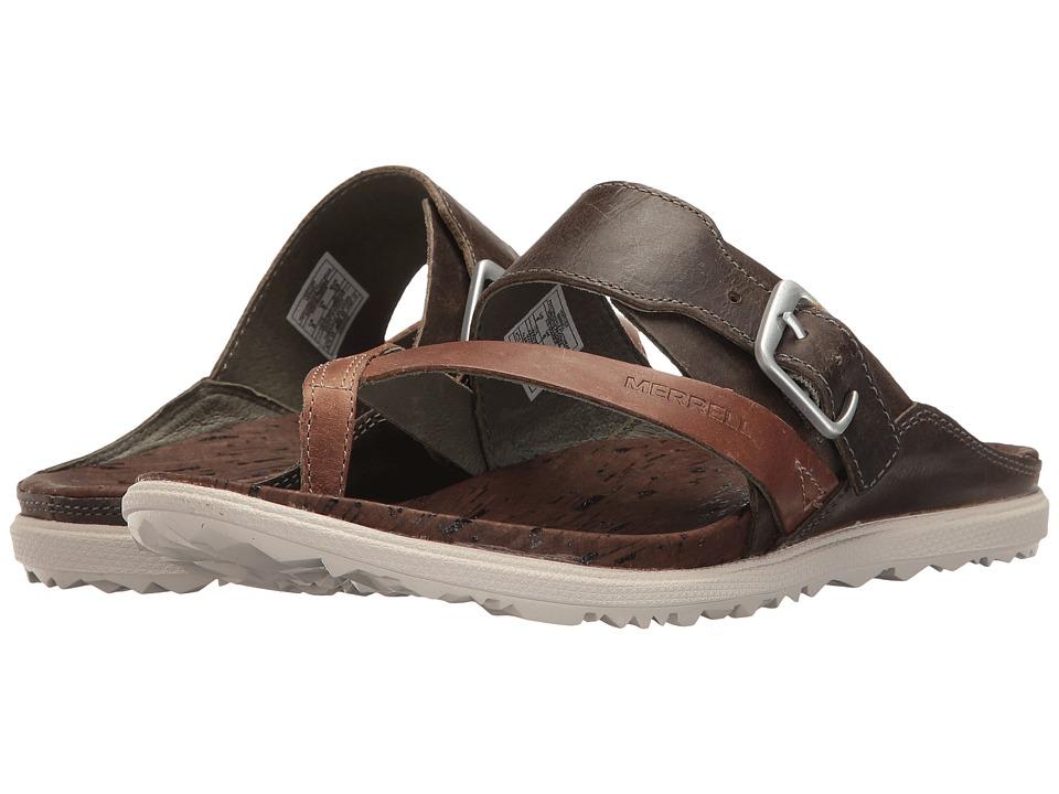 Merrell Around Town Thong Buckle (Vertiver) Women's Sandals
