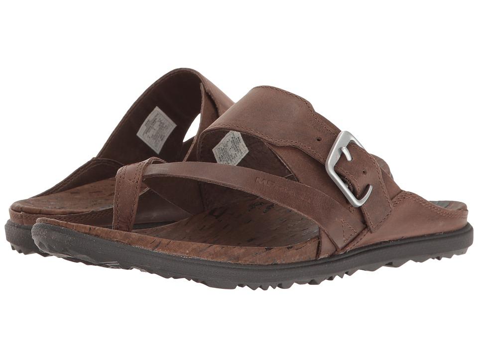 Merrell Around Town Thong Buckle (Brown) Women's Sandals