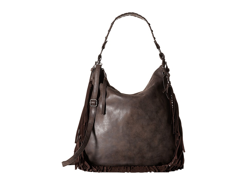 Jessica Simpson - Delilah Crossbody Hobo (Chocolate) Hobo Handbags