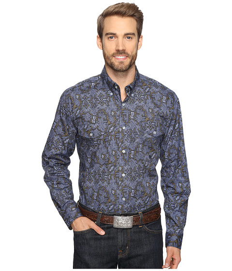 Roper 0564 Vice Roy Paisley Button - Green