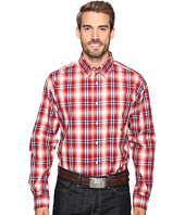 Roper - 0557 Wine Plaid Button One-Pocket