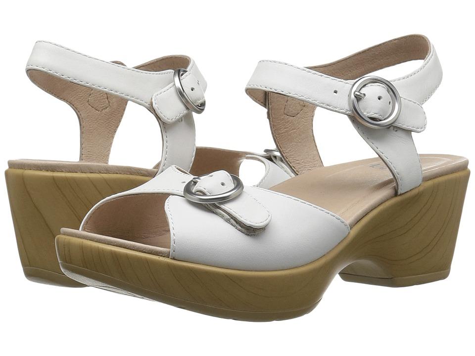 Dansko June (White Full Grain) Women's Sling Back Shoes