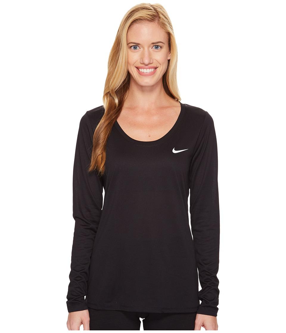 Nike Dry Legend Long Sleeve Tee (Black/White) Women