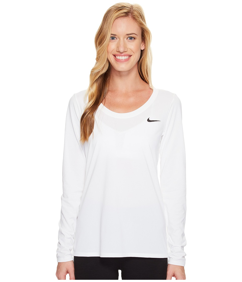 Nike Dry Legend Long Sleeve Tee (White/Black) Women