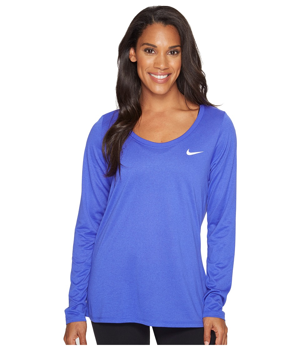 Nike Dry Legend Long Sleeve Tee (Paramount Blue/White) Women