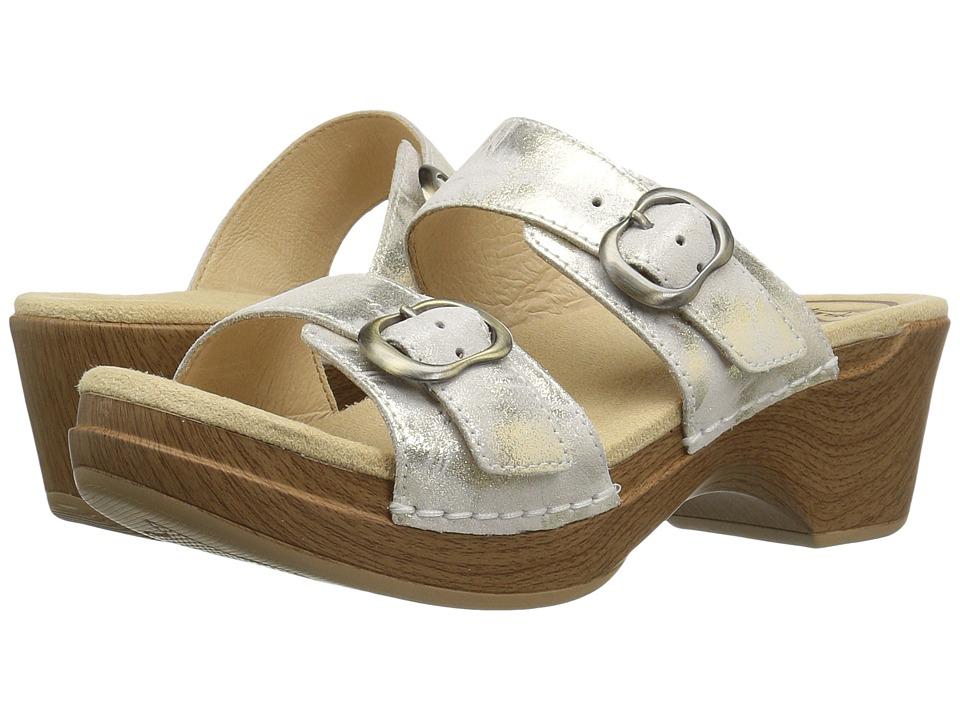 Dansko Sophie (Ivory/Gold Metallic) Women's Sandals