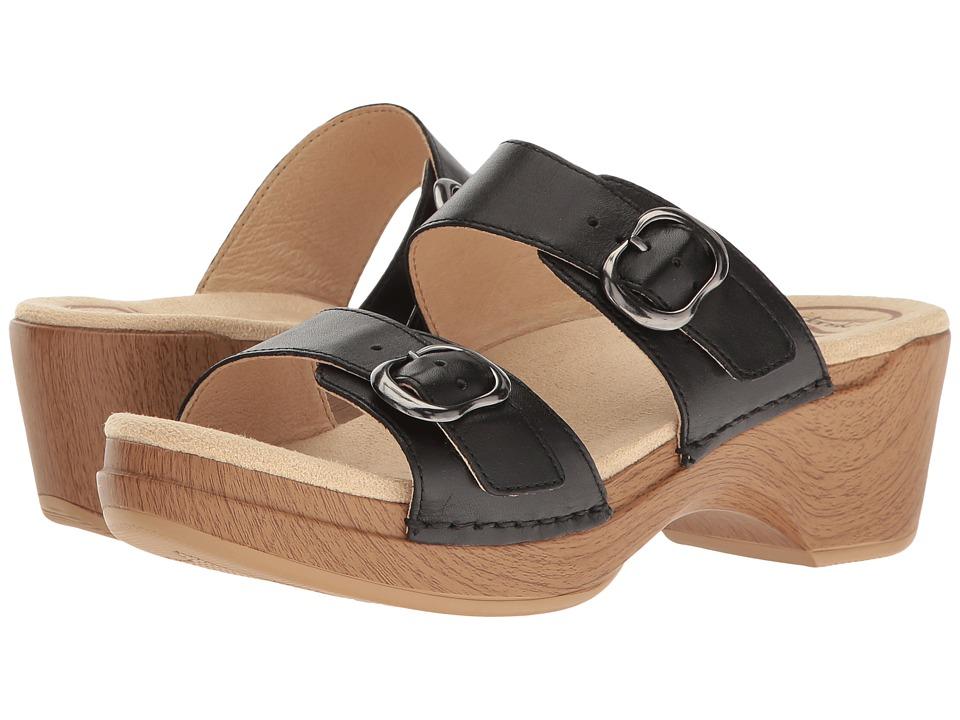 Dansko Sophie (Black Full Grain) Sandals