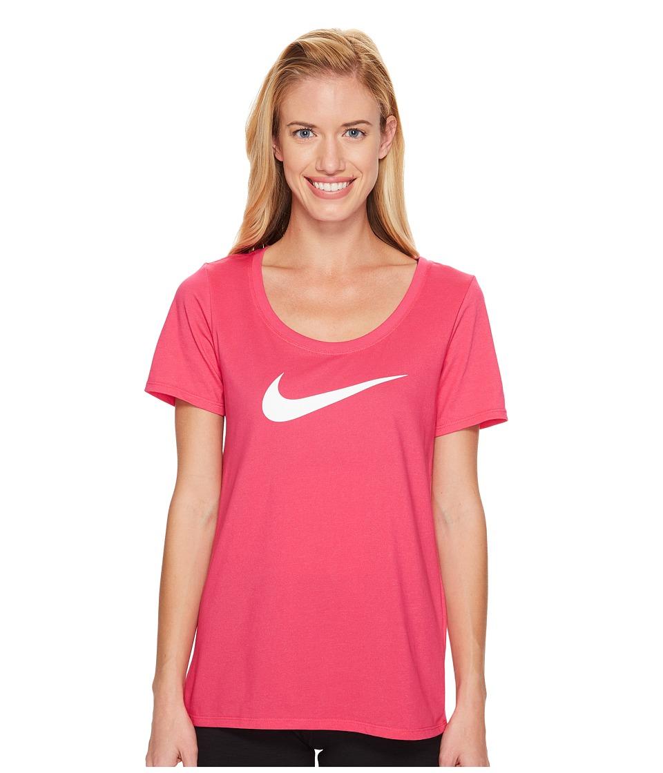 Nike Dry Tee (Vivid Pink/Bright Melon) Women