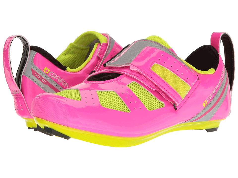 Louis Garneau - Tri X-Speed III (Pink Glow/Bright Yellow) Womens Running Shoes