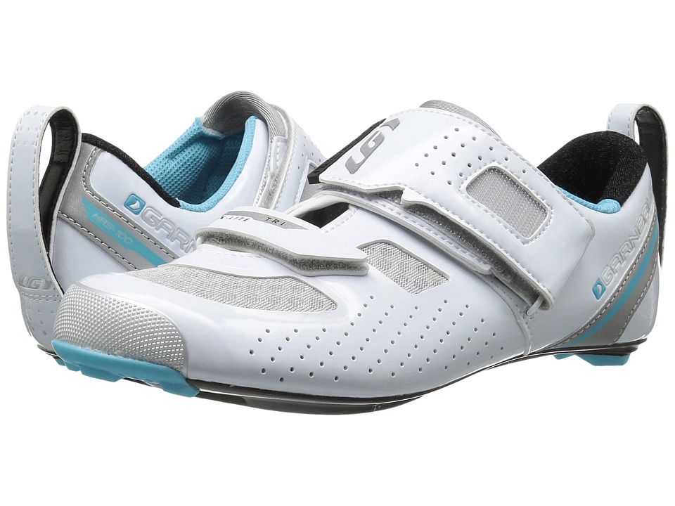 Louis Garneau - Tri X-Lite II (White/Blue Fish) Womens Running Shoes
